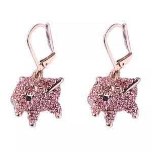 Kate Spade Flying Pig Crystal Earrings
